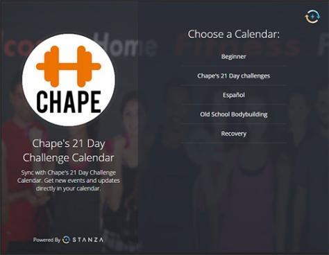 Chape´s calendar categories