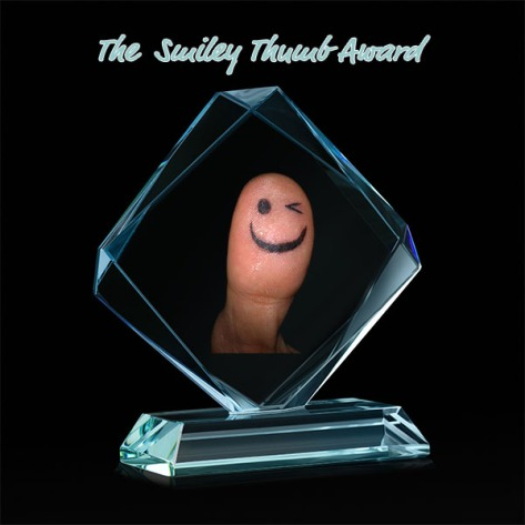Crystal blank for award on black